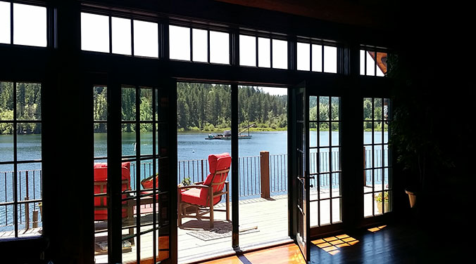 Sunny Deck on a Lake